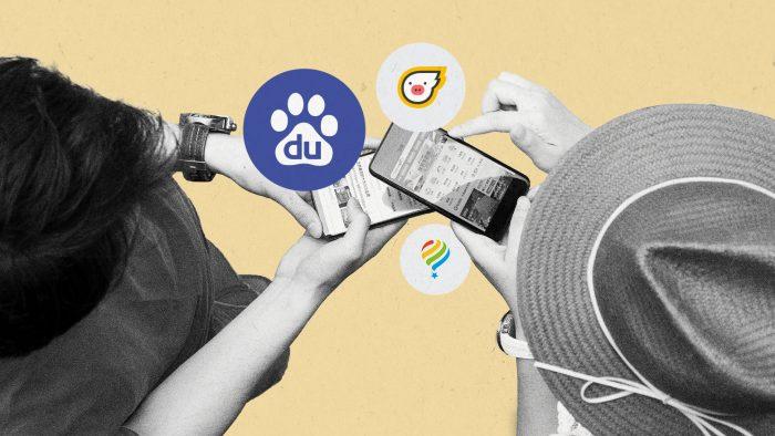 Chinesische Touristen nutzen Baidu Maps
